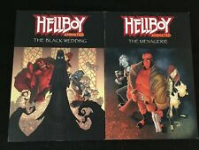 HELLBOY ANIMATED Vol. 1: THE BLACK WEDDING, Vol. 3: THE MENAGERIE Digests