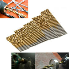 50Pcs 1/1.5/2/2.5/3mm Titanium Coated HSS High Speed Steel Drill Bit Hand Tool``