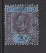 LEEWARD ISLANDS 1912-22 2/- PURPLE & BLUE SG 55 FINE USED.