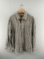 AT Company Armand Thiery Mens Brown Vintage Long Sleeve Button Up Shirt Size 2XL
