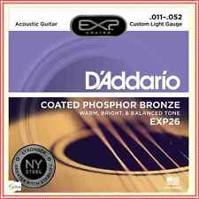 D'Addario EXP26  Coated Phos Bronze Acoustic Guitar Strings 11 - 52  NY Steel