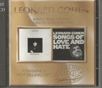 RARE LEONARD COHEN DOUBLE CD SONGS FROM A ROOM & LOVE & HATE DOUBLE GOLD 1995