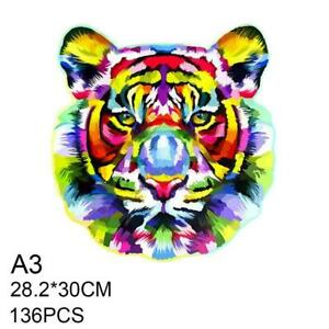 Wooden Jigsaw Puzzles Unique Animal Jigsaw Pieces Best Kid/Adult New Gifts F5S9