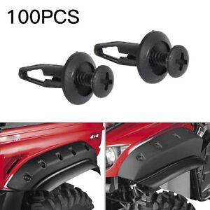 100xScrew Style Fender Flare Rivets Fastener Clips fits Yamaha Rhino 450 660 700