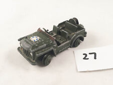 DINKY # 674 AUSTIN CHAMP ARMY MILITARY JEEP 4X4 DIECAST GREEN PLAYWORN 1958