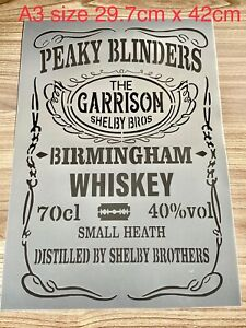 Peaky Blinders Stencil, Whiskey Stencil,large Bar Sign,wall Furniture Stencil