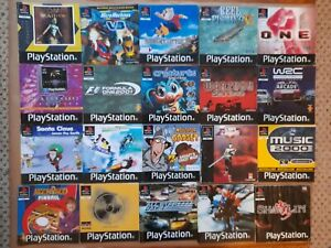 20 x JOB LOT of PAL PlayStation 1 PS1 GAMES INSTRUCTION MANUAL BOOKLET BUNDLE *B