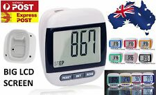 Large LCD Waterproof Step Pedometer Sport Calorie Counter Walking Distance MX