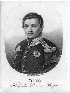 BAYERN*OTTO*KÖNIGLICHER PRINZ VON BAYERN*KÖNIG VON GRIECHENLAND (1832 - 1862)*