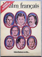 Magazine LE FILM FRANCAIS 8 distributeurs GOLDMAN Combault MISCHKIND... 1976 *