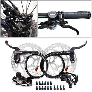 Deluxe MTB Hydraulic Disc Brake Set Trail Bike Calipers Levers F180/R160