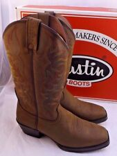 Justin Mens Sorrel Apache Leather Western BOOTS Stampede Square Toe 10 D Medium (d M)