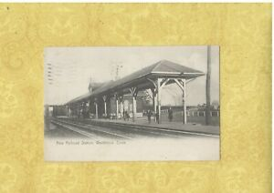 CT Westbrook 1906 antique postcard RAILROAD STATION DEPOT CONN to Middletown