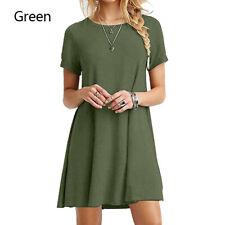 Women's Sundress Short Sleeve Casual T-shirt Dress Loose Summer Dress Plus Size