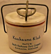 Vintage Kaukauna Klub Mini Cheese Crock