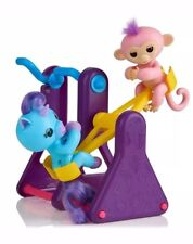 Fingerlings Playset See-Saw & 2 Fingerling Toys: Monkey CORAL & Unicorn CALLIE