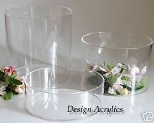 3 LARGE CRYSTAL CLEAR ACRYLIC TUBE CAKE RISER STANDS