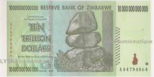 Zimbabwe 10 Trillion Dollars AA/2008 Series  P-88  UNC