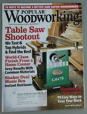 Popular Woodworking - Table Saw Shootout, Shaker Oval Music Box Plans: #165 Saw