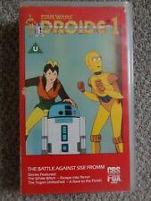 STAR WARS DROIDS 1 VHS VIDEO BATTLE AGAINST SISE FROMM C-3PO R2-D2 JEDI VADER 85