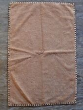 Emanual Ungaro Brown Apache Hand or Guest Towel Leather Binding Western Accent