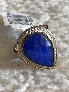 Anna Beck Jewelry - Blue Quartz Gold Plated Silver Teardrop Ring Size 7 NEW