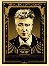 Shepard Fairey The Music of David Lynch SIGNED Numbered Benefit Poster LA Print