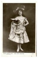Antique RPPC postcard Miss Daisy Stratton actress stage music hall singer