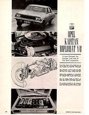 1964 OPEL KAPITAN DIPLOMAT V-8  ~  ORIGINAL 5-PAGE ROAD TEST / ARTICLE / AD