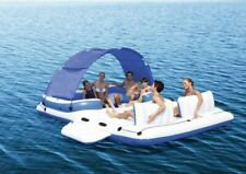Luxury Inflatable Island Raft - Perfect for lake and Beach Houses! (12' x 9')