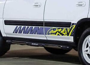 Fits Honda CRV Retro Side Body Graphics. 1997 - 2001 JDM 4x4 AWD RD1 RD3 B20B