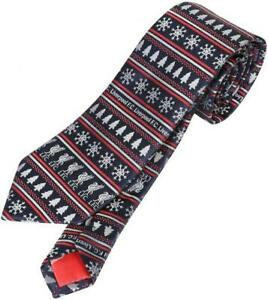 LIVERPOOL FC OFFICIAL CHRISTMAS NECK TIE NAVY/RED - FOOTBALL GIFT, XMAS, LFC