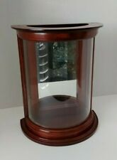 """BOMBAY CO.""""BOSTON LANTERNS"""" CURVED GLASS MIRRORED CURIO / SCONCE CABINET"""