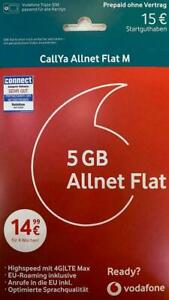 Vodafone Callya Prepaid Allnet Flat M 5GB LTE (4G)  Allnet Flat SMS Flat SIM