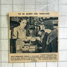 1939 Miss Dorothy Mills, Greenside Grocery Assistant May Queen For Weekend