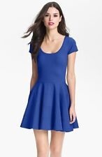 FELICITY & COCO PONTE KNIT FIT & FLARE COBALT BLUE DRESS  sz M