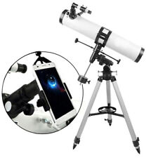 Visionking 114 mm 900 Equatorial Mount Astronomical Telescope & Phone Adapter