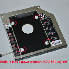 "SATA 2nd 2.5"" HDD SSD Caddy Adapter for Laptop 9.5mm Optical Hard Drive Bay US"