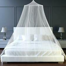 Mosquito Net Canopy Bedcover Fly Insect Protection  For Double King Bed (White)