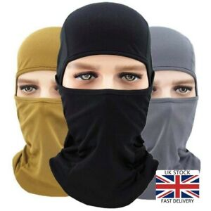 Balaclava Full Face Mask Tactical Paintball Airsoft Neck Warmer Army CS Fabric