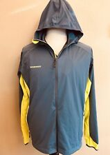 Mammut Softech Men's Lemah Hooded Windbreaker Lightweight Jacket Size XL Gray