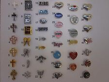 BUY 5/GET 10 FREE!  Faith Floating Charms Cross/Jesus/etc for Glass Lockets USA