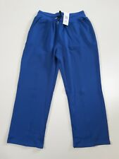 Ekouaer Loose Fit Drawstring Yoga Pants Blue Size XL