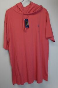 Polo Ralph Lauren Short Sleeve Pullover Hoodie 100% Cotton NWT 4 Colors w Pony