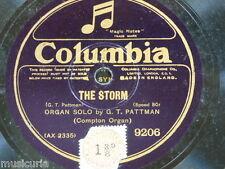 "78rpm 12"" G T PATTMAN  [compton organ ] THE STORM / eathope martin EVENSONG 9206"