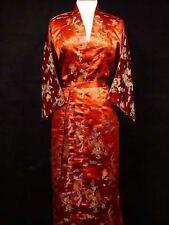 2018 Red Black Chinese Women's Silk/Satin Kimono Robe Gown Dragon