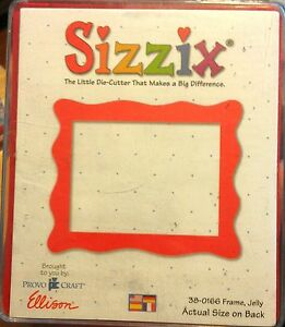 Sizzix Ellison Jelly Square Frame Provo Craft Scrapbook Red Die Cutter Tool #DL*