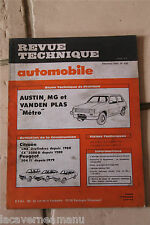 "REVUE TECHNIQUE AUTOMOBILE de 1982 austin, MG et vanden plas ""metro""  N° 428"