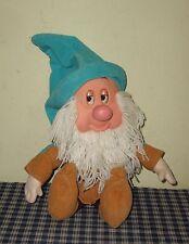 1993 Mattel Disney Snow White Sleepy Dwarf Plush Doll Eyes Close Sleeps Snores