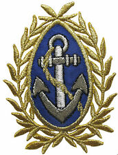 """#2810 2-3/4"""" Embroidery Iron On Marine Anchor Applique Patch"""